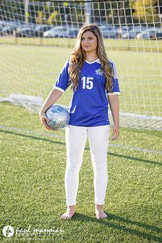 Soccer senior pictures pose ideas for girls - Metro Detroit Photographer - http://www.paulmanoian.com/