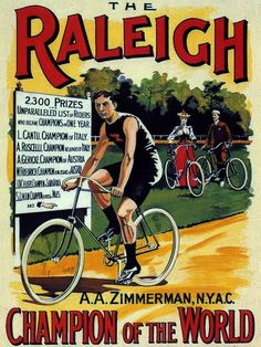 Raleigh ~ Vintage poster of a magnificent British bicycle