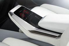 AUDI Q8 arm rest interaction design for temperature control:
