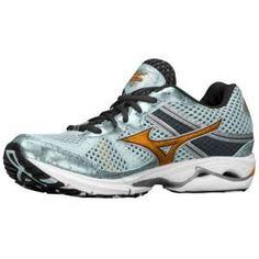 Mizuno Wave Rider 15 -- best running shoes evah for those of us with narrow feet/high arches.