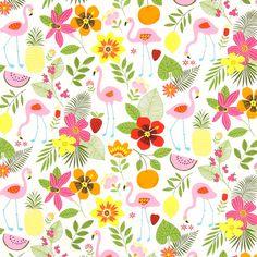 Cretonne Flowergarden - Katoen - kleurenmix