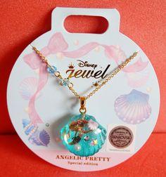 Disney Store Ariel Little Mermaid Necklace Angelic Pretty Swarovski Japan new #Disney