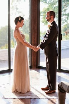 """""""The ceremony included a ring blessing, where our rings were passed around and each guest made a silent blessing/prayer/thought before we exchanged them."""""""