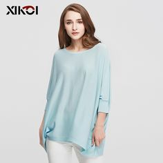2017 New Autumn Casual Women Sweaters Clothes Fashion Batwing Sleeve Pullover Solid O-Neck Pullovers Thin Women Sweater Clothing #Affiliate