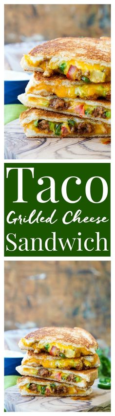 This Taco Grilled Cheese Sandwich can be customized just like a taco! The original recipe is packed with bold flavor and a little heat for a lunch or dinner that's sure to leave your mouth watering! ArtesanoBread AD