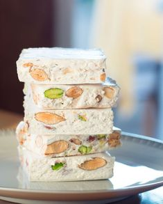 Thermomix Nougat for 6 people Elle à Table Recipes Dessert Thermomix, Avocado Dip, Dessert Dips, Easy Smoothie Recipes, Fall Desserts, French Desserts, Food Cakes, Ice Cream Recipes, Confectionery