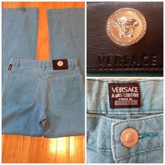 9168440704c12 Versace Jeans Couture Turquoise Jeans 100% Authentic! The Versace logo is  on every brad