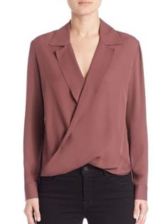 Rita Blouse in Mulberry by L'Agence