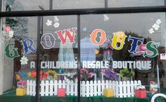 Cute children's resale shop on Larchmere in Cleveland that always has AWESOME window displays!