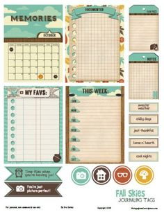 Free Fall Themed Project Life Printables Round Up | Vintage Glam Studio