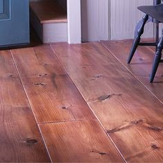 Wide plank floor for the main floor and upstairs. (I would like the underside of the upstairs floor to form the main floor ceiling. Pine Flooring, Wide Plank Flooring, Flooring Ideas, Wooden Flooring, Hardwood Floors, New England Style, New England Homes, New Homes, American Country