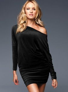 $49.50Velour Side-ruched Dress #VictoriasSecret http://www.victoriassecret.com/clothing/velour-and-fleece/velour-side-ruched-dress?ProductID=9507=OLS?cm_mmc=pinterest-_-product-_-x-_-x