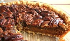 BROWN BUTTER PECAN PIE: This is the most delectable Pecan Pie you have ever tasted! Browning the butter to create a toasted flavor along with the addition of maple syrup makes it truly irresistible.
