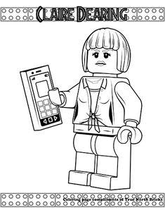 Disegni Da Colorare Lego Speciale Jurassic World Zsombi