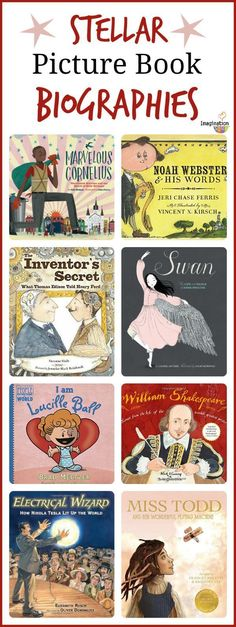 8 Picture Book Biographies suitable for Year 1-3.  Could be effective for introducing the concept of 'biographies' to children.