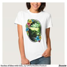 Garden of Eden with Colorful Frame T-Shirt
