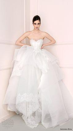 antonio riva 2016 bridal dresses strapless sweetheart neckline pretty tulle wedding ball gown dress minerva