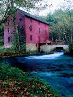 Photographic Print: Alley Mill at Alley Spring, Ozarks National Scenic Riverways, Ozark National Park, Missouri by John Elk III : Oklahoma, Wisconsin, Nebraska, Iowa, Michigan, Ohio, Ozark National Park, National Parks, Great Places
