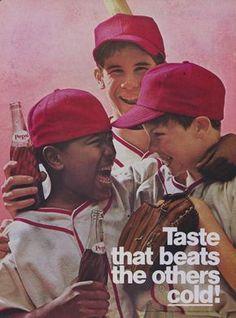 1969 Pepsi Cola Ad Boys Baseball Players Photo 60s by AdVintageCom