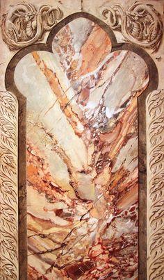 Faux marble by Barre Verkerke. http://www.bvkpaintworks.nl/