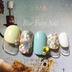 ネイル 画像 Blue Fairy Nail ブルーフェアリーネイル 千里丘 763721