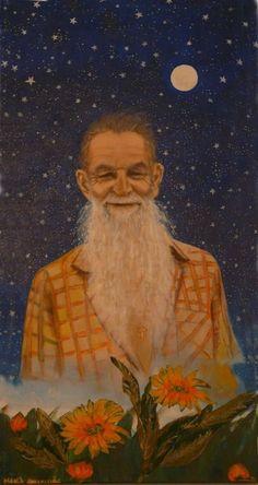 Padrinho Sebastião Mota de Melo. Acrilic on canvas, by Maria Gavaldão.