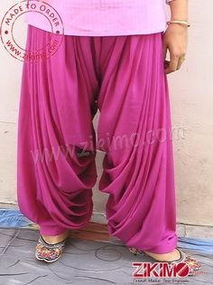 Made To order Cotton Satin Pink Punjabi Patiala Salwar Patiala Pants, Patiala Dress, Patiala Salwar Suits, Indian Fashion Dresses, Indian Outfits, Hijab Fashion, Kurti Neck Designs, Blouse Designs, Salwar Pattern
