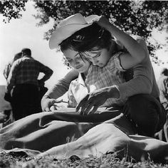Elvis Presley and Dolores Hart on the set of 'Loving You', 1957.
