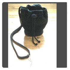 "Jacqueline Ferrar Black Crochet Bag Jacqueline Ferrar Black Crochet Bag.  Excellent condition. 7""from top to bottom. 6""across. Round bottom I will stand on its own... Jacqueline Ferrar Bags"
