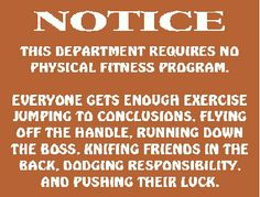 Who needs exercise?!