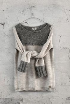 Contemporary Knitwear - contrasting knit sweater // OSI Femmes
