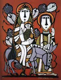 """Flight into Egypt"" by Japanese artist Sadao Watanabe"