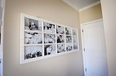 Repurpose a french door into a picture frame