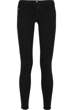Black stretch-denim Button and concealed zip fastening at front 91.5% cotton, 6% polyester, 2.5% Lycra Machine wash inside out to avoid color transfer Designer wash: Film Noir