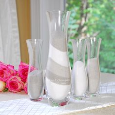Bringing Two Families Together Has Never Looked Better Than With Our Sand Ceremony Vase Set This One Of A Kind Unity Candle Doubles As Wedding