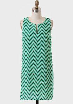 Santa Clara Chevron Shift Dress (I want this! !!!)