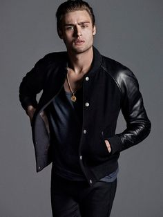 Photography duo Hunter & Gatti captures the striking cover of Flaunt Magazine with actor Douglas Booth. Styling for the shoot is courtesy of Rebecca Corbin-Murray and grooming by Mark Bailey.