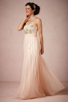 Beaux Arts Dress in Blush | 20 Wedding Dresses for the Modern Bride