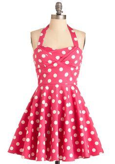 Polka-dot dress