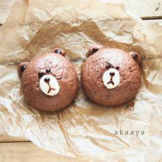ブラウン( LINE )ちょこまん。 by ayknic59 at 2014-3-8 - 料理とレシピがひらめくお料理サイト | SnapDish [スナップディッシュ]