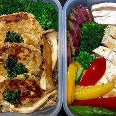 本日のお弁当❤️ ハンバーグに鶏胸肉  早朝パーソナル終えてこれから鍼治療です。  そして戻って本日は23:35まで移動しながらぶっ通し!  頑張るぞ(^^) #パーソナルトレーニング #ボディビル #フィジーク #ダイエット #ジム #ファインラボ #ゴールドジム #エニタイムフィットネス #マッチョ #ボディメイク #フィットネス #トレーニング #筋肉 #肉体改造 #筋トレ #腹筋 #6パック #肉 #ステーキ #熟成肉 #personaltrainer #personaltraining #diet #gym #fitness #muscle #workout #training #goldsgym