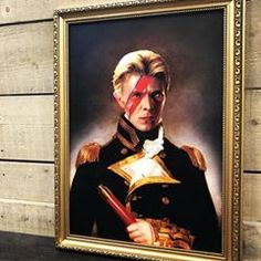 """""""I don't know where I'm going from here but I promise it won't be boring."""" - David Bowie Renaissance Portrait Print by discoverthecabin - - - #picture #frame #framing #art #print #davidbowie #thecabin"""