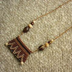 Cavendoli macrame necklace african boho macrame beaded necklace