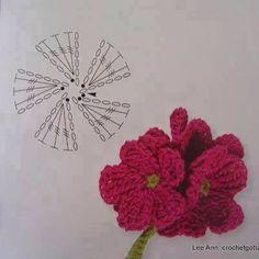 Flor croché