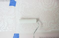 DIY Video Tutorial - How to Stencil a Lace Wallpaper Pattern - Lace Stencils by Royal Design Studio