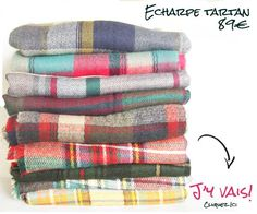 grosse charpe en laine carreaux blog tartan et tricot et crochet. Black Bedroom Furniture Sets. Home Design Ideas