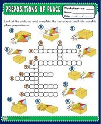 Prepositions of place - worksheets