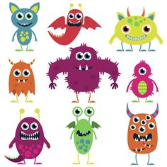 friendly monsters illustrations - Google Search (;