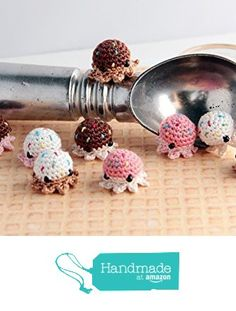MiniPus (Ice Cream) - Miniature Octopus Amigurumi Doll Plush with Optional Key Chain or Phone Charm Attachment from Pocket Sushi http://www.amazon.com/dp/B01BKYV4L8/ref=hnd_sw_r_pi_dp_pT7Zwb01GS0RK #handmadeatamazon