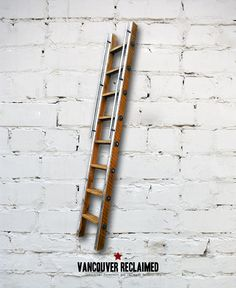 Library Ladder  Made To Order by VancouverReclaimed on Etsy, $1000.00